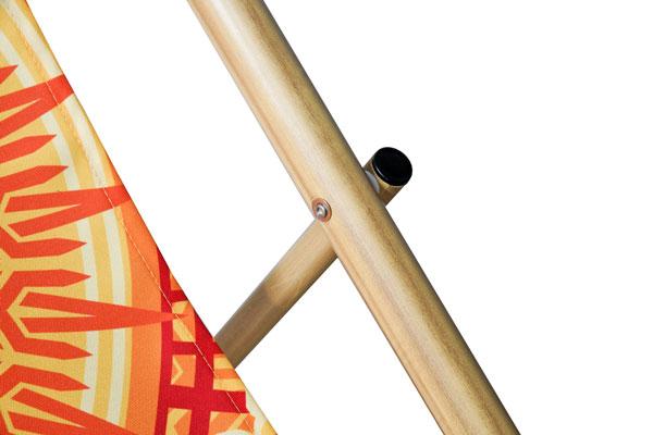 Aluminium-Liegestuhl TREND BAMBOO – Details